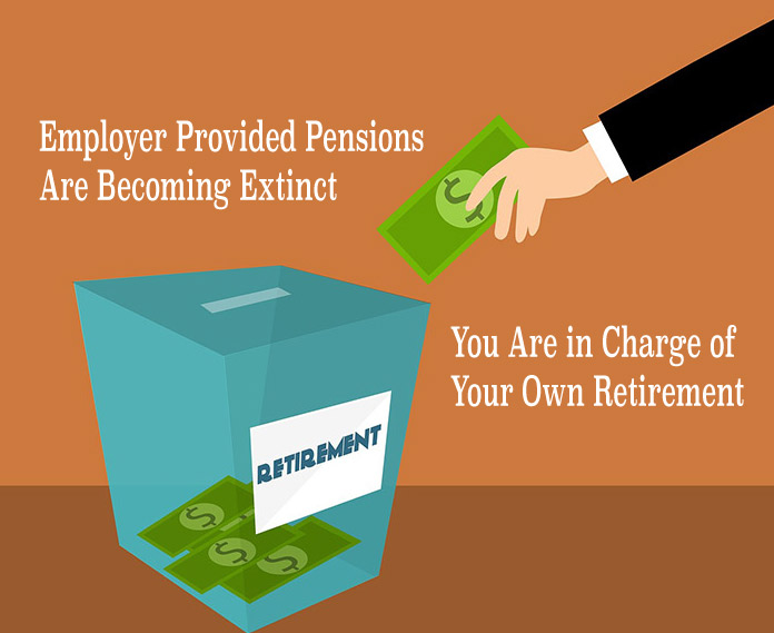 Employer Provided Pensions Are Becoming Extinct. You Are in Charge of Your Own Retirement.