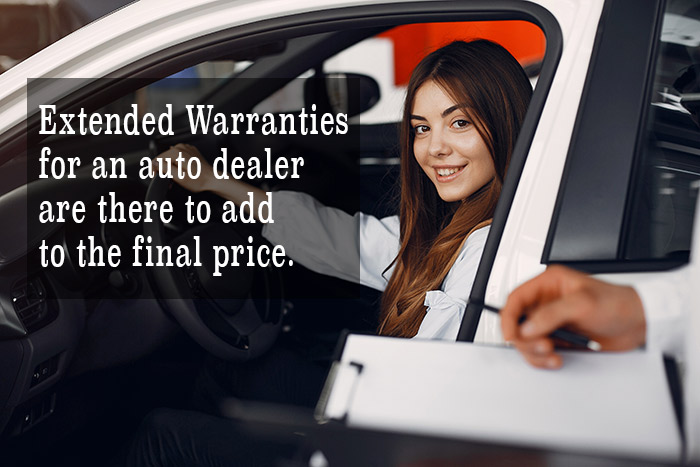Extended Warranties for an auto dealer are there to add to the final price.